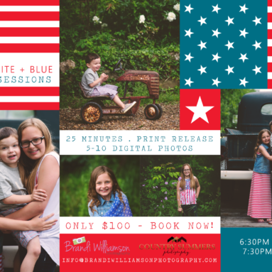 Tuscarawas County Child Photographer | RED WHITE + BLUE MINI SESSIONS AT RIVERCREST