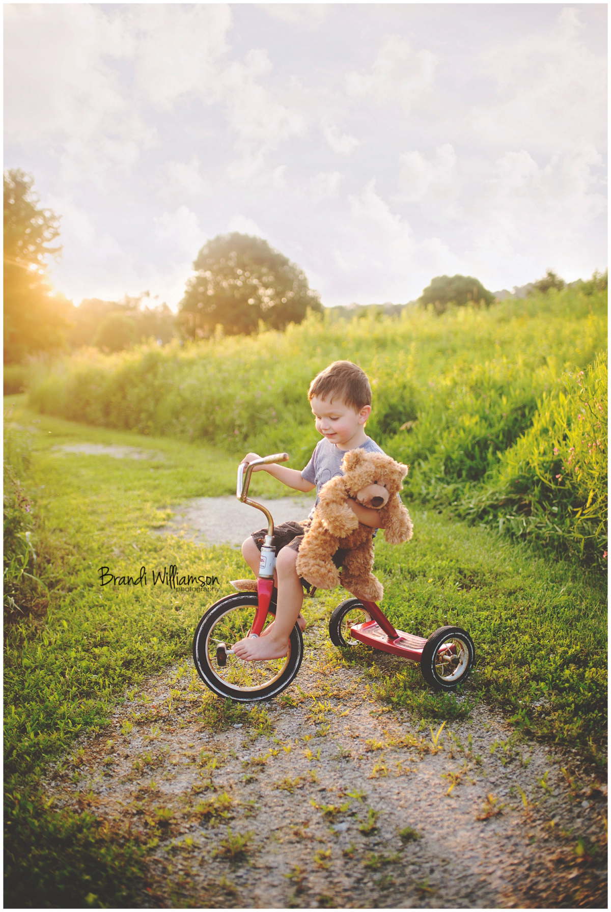 Dover OH Toddler Photographer   boy on bike with teddy bear, boy with teddy bear   Finding Me Project 52   #findingme52   www.brandiwilliamsonphotography.com