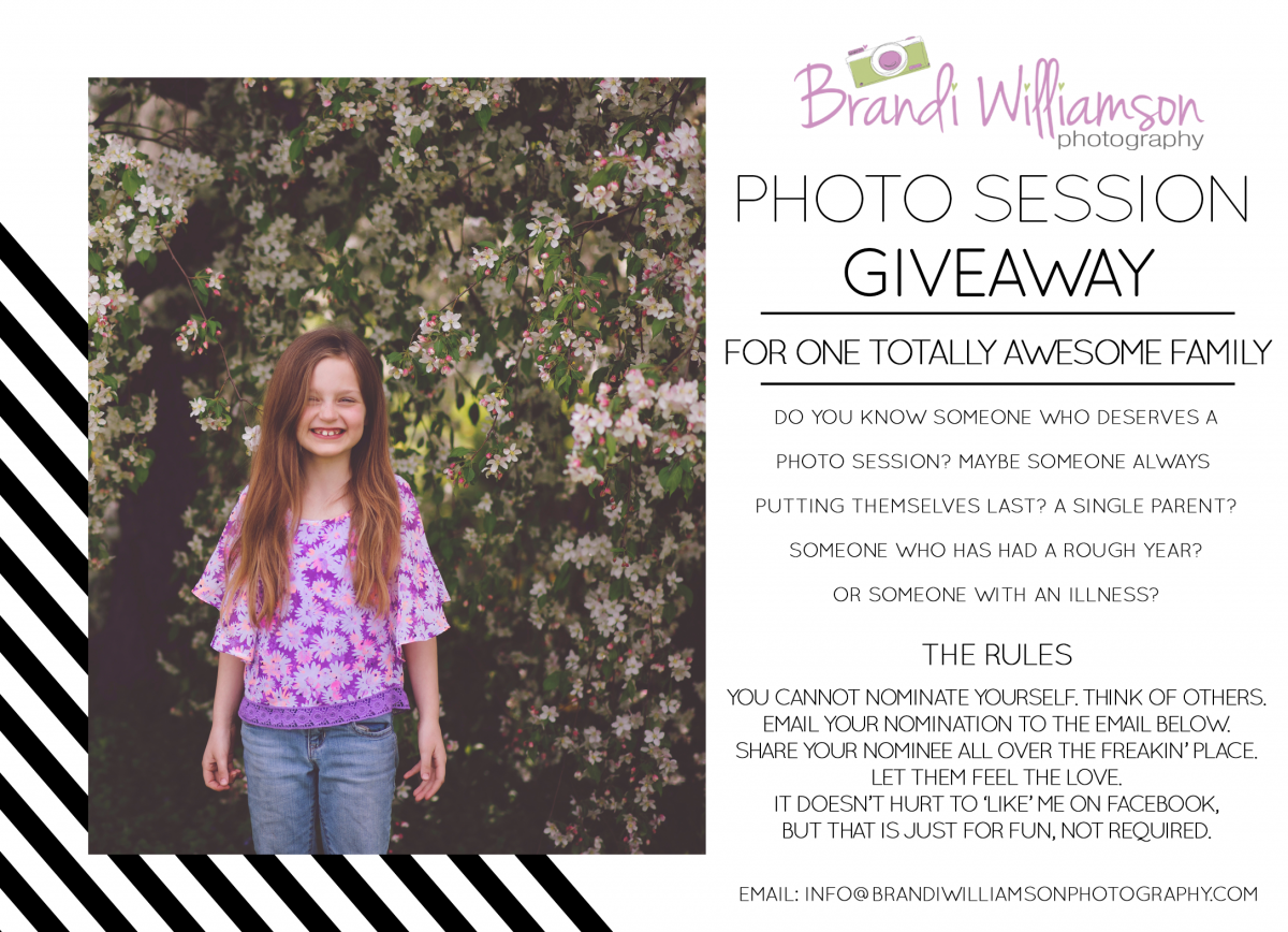 Tuscarawas County Photographer | PHOTO SESSION GIVEAWAY