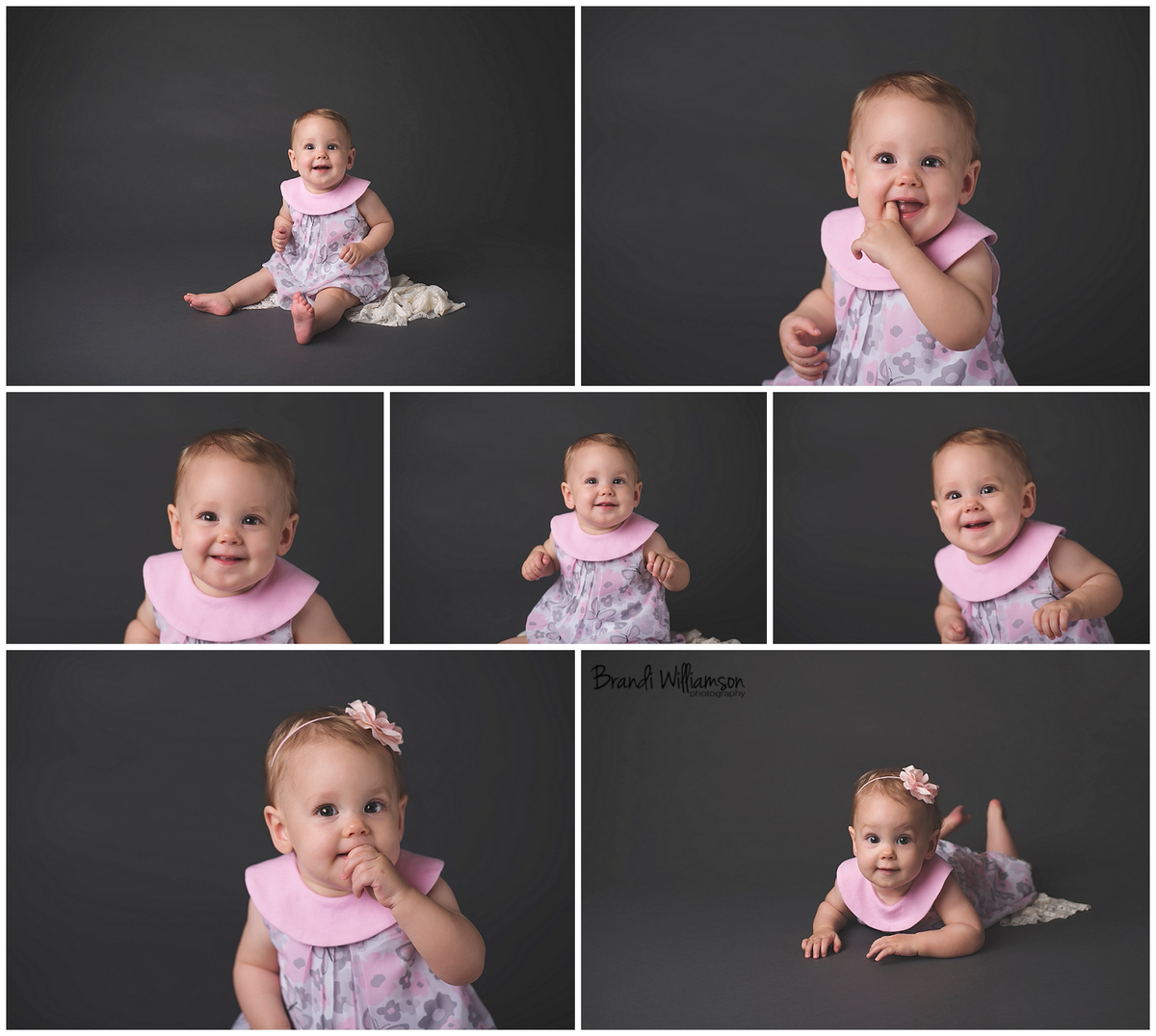 Dover Baby Photographer | 9 month old baby girl studio session | Tuscarawas County Ohio | www.brandiwilliamsonphotography.com