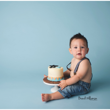 New Philadelphia First Birthday Photographer | GAGE'S SUGARFUSE RUSTIC SMASH CAKE
