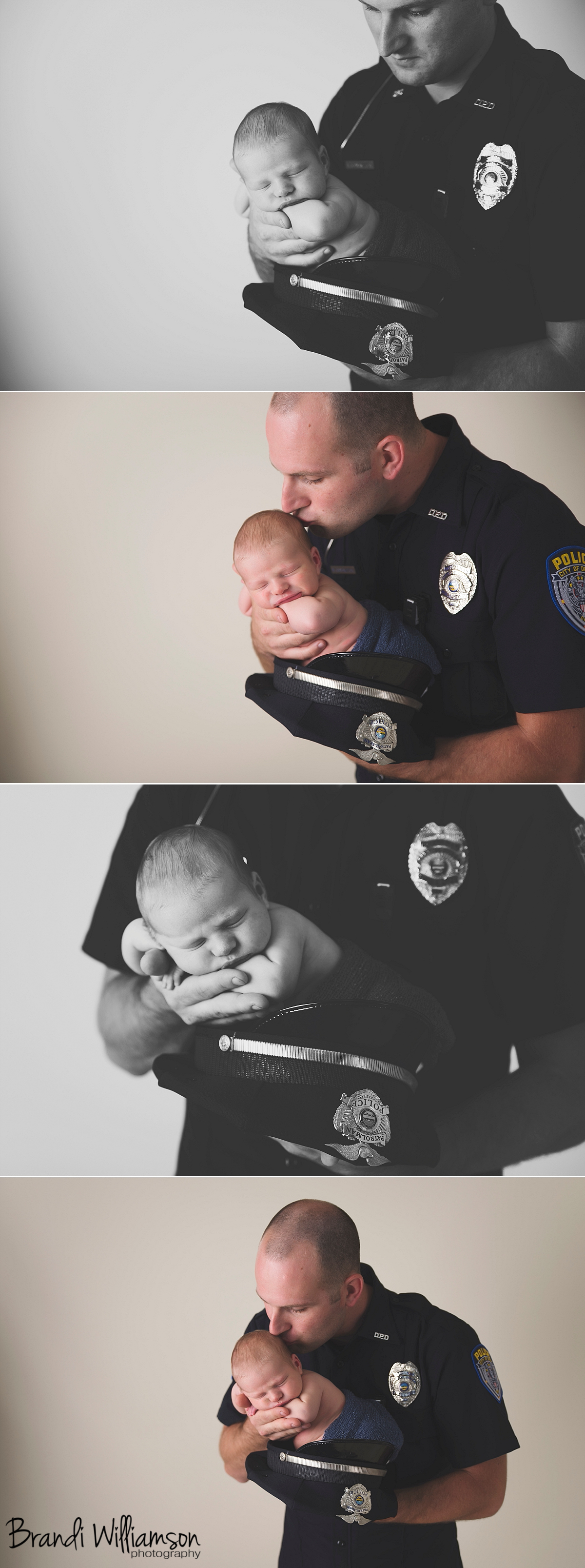 police officer daddy, newborn with police dad, police, clicksoflove, #clicksoflove, clicks of love, officer in uniform, police dad