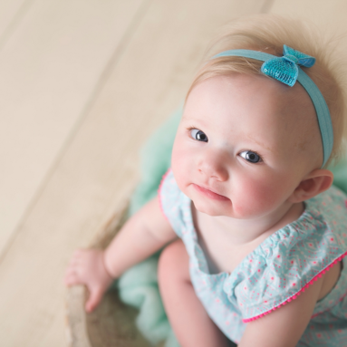 North Canton Baby Photographer, Stella's 7 Month Session, Sitter Session, 6 Month Session